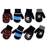 Disney Boys 4 Pack Mitten or Glove Set: Mickey Mouse, Cars Lighting McQueen (Toddler/Littl...