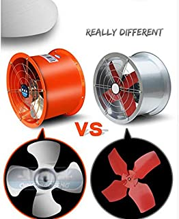 Intbuying New 220V 10'' Explosion-Proof axial Fan Cylinder Pipe Fan Explosion-Proof Fan 1800m³/H