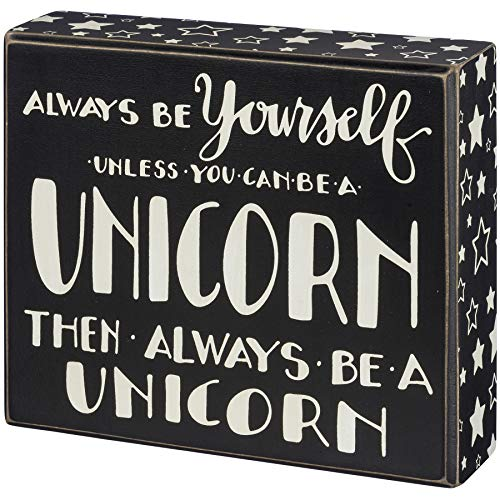 Primitives by Kathy Stars Trimmed Box Sign, 7 x 6-Inches, Always Be Yourself