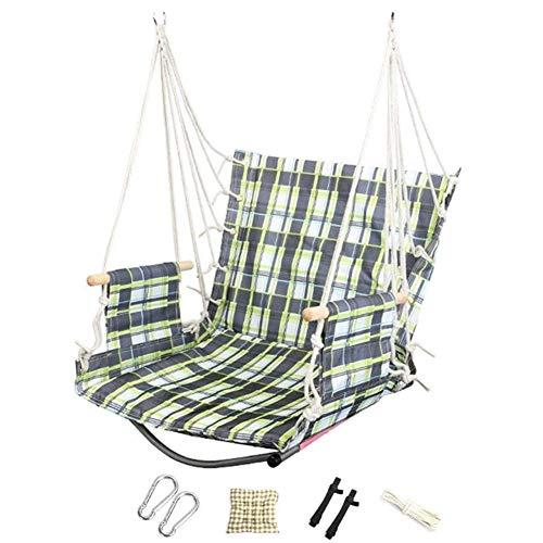 HGDD Schaukel Kinderschaukel Babyschaukel Swing Set für Kinder Oxford Tuch Hanging Swing Seat Indoor Hängende Stuhl Outdoor Hängematte Spielzeug Kann 150kg Combo Swing tragen (Color : Green)