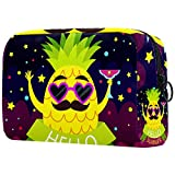 Toiletry Bag/Makeup Organizer/Cosmetic Bag/Portable Travel Kit Organizer/Household Storage Pack/Bathroom Storage Purple Pineapple