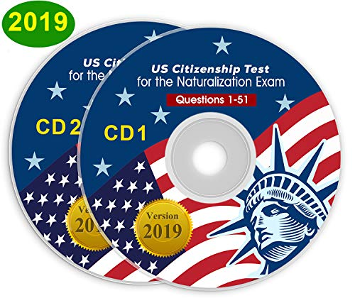 US Citizenship Test Study Guide 2019 CD Audio (2 Disks) Official 100 USCIS | 100 Questions & Answers USA Naturalization Civic Question|