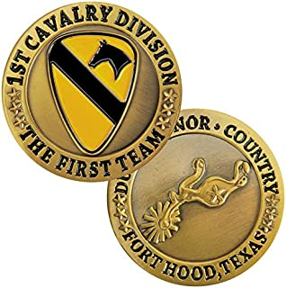 Medals of America 1st Cavalry Division Fort Hood Challenge Coin Gold