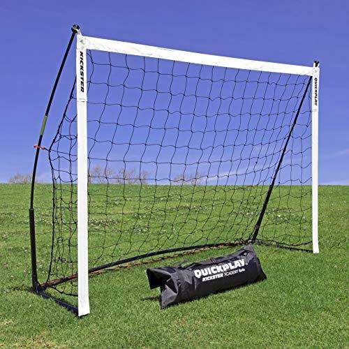 QUICKPLAY Kickster Academy Fußballtor 1.8 x 1.2M - Ultra TragbarFußballtor beinhaltet Fußballnetz und Tragetasche [Einzelziel]