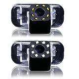 dynavsal Auto HD CCD marcha atrás 170° amplio con radar sensor Asistente de aparcamiento universal para PAL/NTSC, Negro para B200a class W169Clase B T245Car
