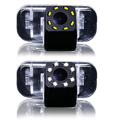 Dynavsal 8LED Night Visions Telecamera Inversa luce targa 170 ° Grandangolare HD Color Impermeabile Telecamera Posteriore per B200 A Class W169 B Klasse T245 CAR