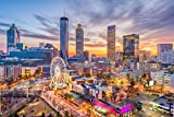City Skyline Atlanta XXL Wandbild Kunstdruck Foto -Poster-