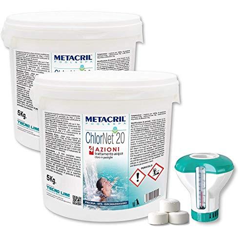 Metacril Chlor Net 20 4 acciones 10 kg (5 + 5) +...