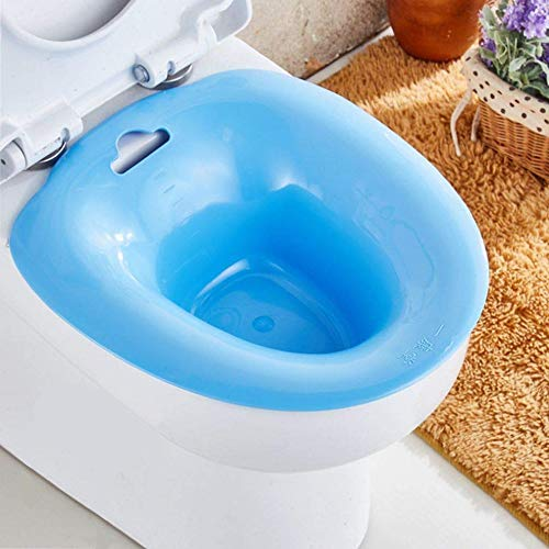 Sitz Baths Over The Toilet Avoid Squat Suitable forHemorrhoids Patients and Pregnant Women Hemorrhoids Patients, Pregnant Women Health Care, Post-Episiotomy Patients (Blue)