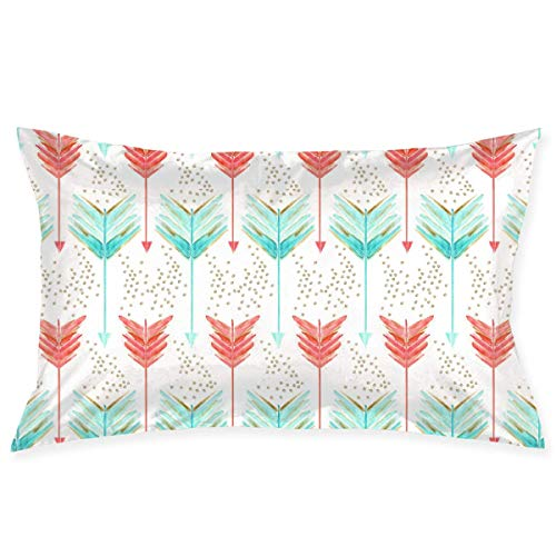 tyui7 Pillowcase Arrows Water Vertical Decorative Pillow Cover Soft and Cozy, Standard Size 75x50 cm with Hidden Zipper