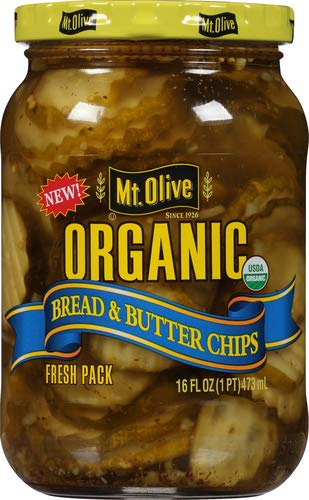 MOUNT OLIVE Organic Bread & Butter Chips, 16 FZ