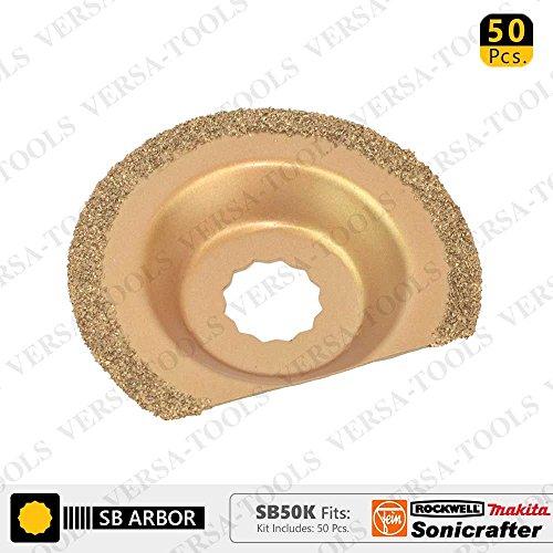 Find Discount Versa Tool SB50K 63mm Semi-Circular Carbide RASP, 8mm Offset Mount Fits Fein Multimast...