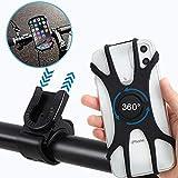Soporte Movil Bicicleta,Asiento de silicona para teléfono celular giratorio de 360 ° desmontable y ajustable, aplicable a iPhone, Samsung,Android 4.5 pulgadas a 7.0 pulgadas teléfono inteligente