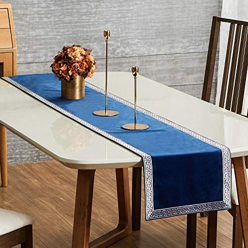 Topfinel Dining Table Runner 72 Inches Luxury Soft Velvet Coffee Table Runners With Geometric Pattern For Party Holiday Buy Online In Botswana At Botswana Desertcart Com Productid 172599532