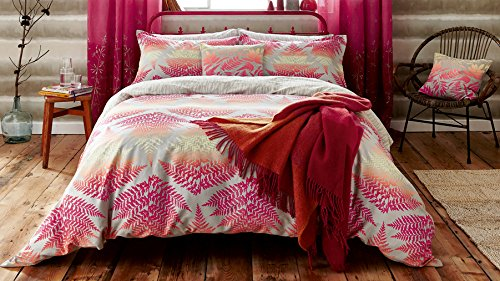 Clarisssa Hulse Filix Duvet Cover, King Size, Coral, Cotton
