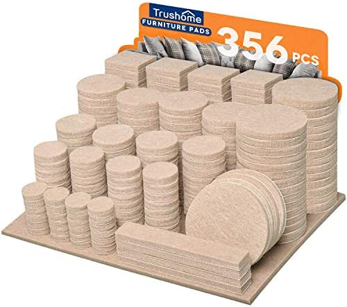 Furniture Pads 356 Pieces Premium Felt Pads Self Adhesive Beige 10 Different Sizes Felt Furniture product image