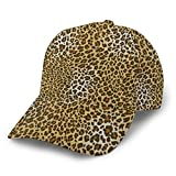 Animal Skin Fur Leopard Print Gorra de béisbol Gorra Brim Bill Snapback papá Sombreros para Hombres Mujeres Unisex