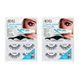 Ardell Deluxe Pack False Eyelashes Wispies, 2 Pairs x 2 Packs