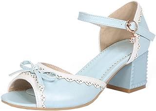 RAZAMAZA Women Peep Toe Sandals Mid Heels