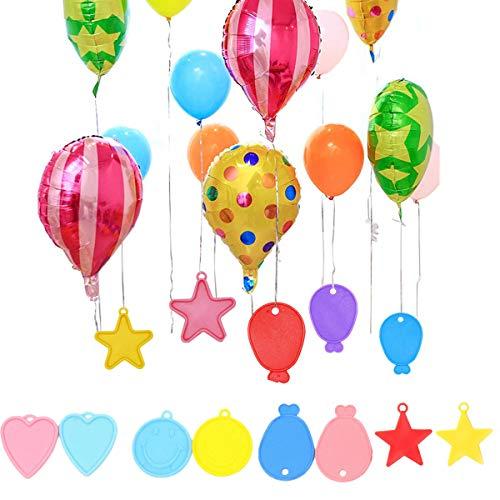 dancepandas Pesas Globos Helio 28PCS Contrapesos Globos Helio Colorido Plástico Balloon Weight para Globos de Cumpleaños, Fiestas, Eventos, Bodas (Color al Azar)