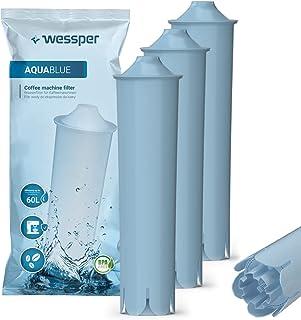 Wessper Cartouche filtrante pour Jura Claris Blue, filtre à eau pour les machines à café entièrement automatiques de Jura,...