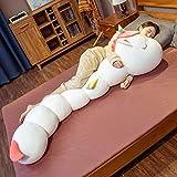 ロング枕 抱きまくら アニマル ぬいぐるみ 毛虫タイプ けむしから変身する 恐竜 兎 くま 抱きやすい 足を乗せる グッズ プレミアム 一人暮らし お誕生日 母の日 父の日 等身大抱きまくら 添寝枕 160cm