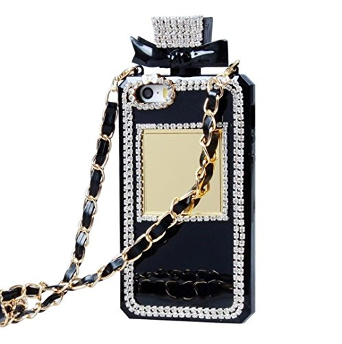 Jesiya iPhone 6 plus/6s Plus Case, 3D Diamond Crystal Bling Bottle Shaped Handbag Perfume Glitter Case Cover for iPhone 6 plus/6s Plus 5.5'