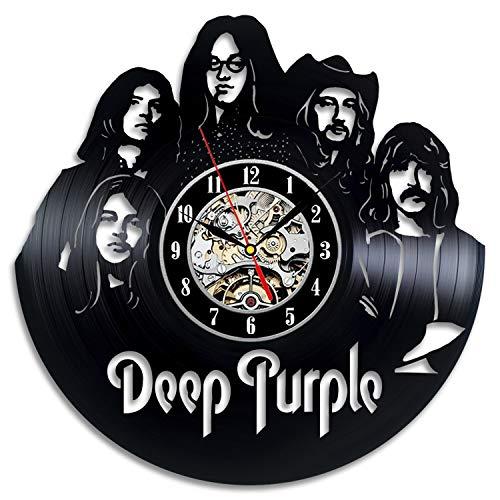 Vinyl Wall Clock Compatible with Deep Purple Deep Purple Vinyl Deep Purple Vinyl Deep Purple Unique Art Deep Purple Handmade Retro Decor Clock Vintage