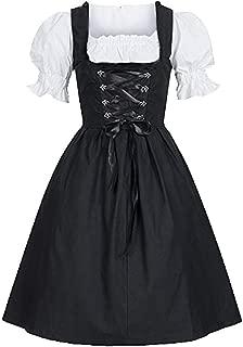 Women's Oktoberfest Costume Dress Strappy Halloween Mini Drindl Dress for Bavarian Oktoberfest