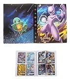 Album for Pokemon GX Mega Cards, Trading Cards Holder Binder, Collectible Card Album, Floder Binder for Pokemon Cards, 30 Pages–Can Hold 240 Cards (Back-to-Back) (Mewtwo)