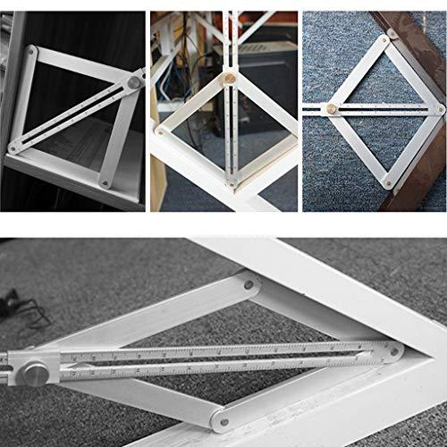 Winkelmesser Werkzeug Corner Angle Finder Aluminiumlegierung Deckenverkleidung Lineal Multifunktionale Einstellbare Winkel Lineal Dach Lineal Layout-Tools Holzbearbeitungswerkzeug (Kurz)