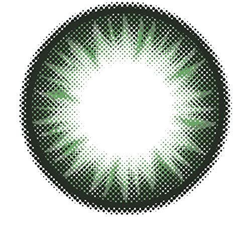 Matlens - Pro Trend Farbige Kontaktlinsen ohne Stärke Bella PC-223 grün grenn 2 Linsen 1 Kontaktlinsenbehälter 1 Pflegemittel 50ml