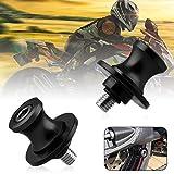 Sporacingrts 2pcs M8 Motorcycle Swing Arm Spools Slider Compatible with Suzuki GSXR 600 750 1000 Kawasaki Z800 Z900 Z1000 B- Rey TL1000 DL650 SV650/1000 (Black)