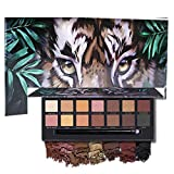 14 colores paleta de sombras de ojos tigre mate brillo impermeable a prueba de manchas maquillaje pigmentado de larga duración (A1)