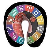 Almohada en Forma de U Aries Signos del Zodiaco Acuario Libra Leo Tauro Cáncer Piscis Virgo Capricornio Sagitario Géminis Escorpio Astrológico PLW-1480