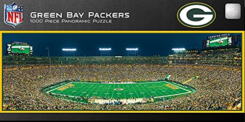 MasterPieces NFL Panoramics 1000 Puzzles Collection - Green Bay Packers NFL Panoramics 1000 Piece Jigsaw Puzzle