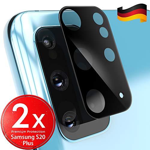 UTECTION 2X Kamera Glasfolie für Samsung Galaxy S20 Plus - Einfache Anbringung, Anti Kratzer - Keine Beeinträchtigung von Blitz oder Sensoren - Kameraschutz Schutzglas - Glas Schutzfolie