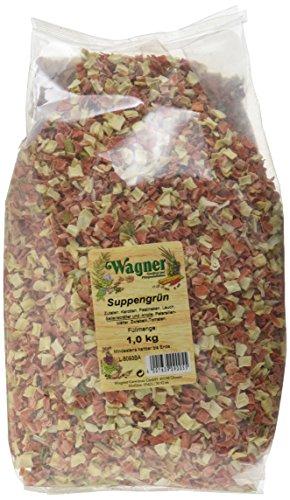 Wagner Gewürze Suppengrün Suppengemüse für Suppen, Brühe & Eintöpfe, getrocknetes Gemüse aus Karotten, Sellerie, Petersilie & mehr, Suppengewürz, Menge: 1 x 1 kg