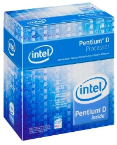 Intel Pentium D (820) 2,8 gHz Dual Core Prozessor mit EM64T (2 x 1024 KB L2 Cache) 800 MHz FSB (BTX Kühllösung)