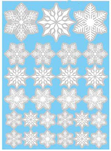 Uteruik Kerstmis Sneeuwvlokken Stickers Venster Cling Vinyl Decals Muurstickers raamdecoratie Winter Decoraties Ornamenten Party Supplies, 1 Set