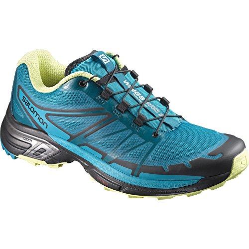 Salomon Wings Pro 2 W, Zapatillas de Running para Mujer, Azul (Enamel Blue/Blue Bird/Sunny Lime), 40 EU