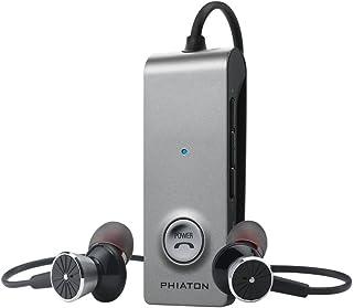 Phiaton inalámbrico Bluetooth 4.0y Activo de cancelación de Ruido Auriculares, Plateado