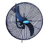 Drip&Fresh D560IP Ventilador Industrial para Nebulización con Soporte a Pared, Regulador de Velocidad de 3 Posiciones, 180º de Orientación, 2 Palas, 130 W, 220/240 V, 50 Hz, Diámetro 60 cm