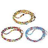 Hifot Correa Gafas 3 Piezas, Perlas Cuerda Gafas de Sol, Retenedor Cadenas Gafas Lectura para Mujer Hombre niño (Color Aleatorio)