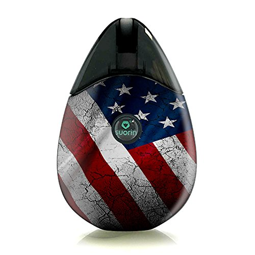 Skin Decal Vinyl Wrap for Suorin Drop Vape Kit Skins Stickers Cover/American Flag Distressed