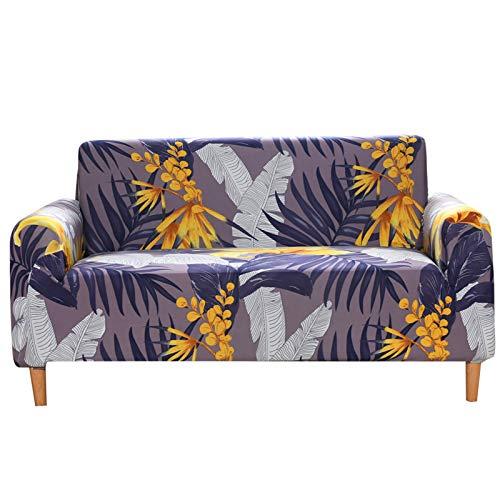 DZYP Fundas de sofá, tejido elástico de seda leche, transpirable, cómodo, agradable al tacto, impermeable, funda de sofá (P-8, 2 plazas)