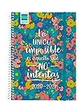 Finocam - Agenda Curso 2020-2021 Cuarto-Semana Vista Apaisada Secundaria Imposible Español, 4º-155 x 212 (Sobremesa)