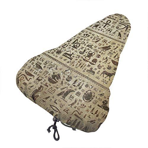 Funda para sillín de bicicleta, jeroglífico egipcio antiguo, fundaa de bicicleta, protección unisex, funda de cojín de bicicleta para bicicleta de montaña, crucero, asiento de bicicleta envolvente