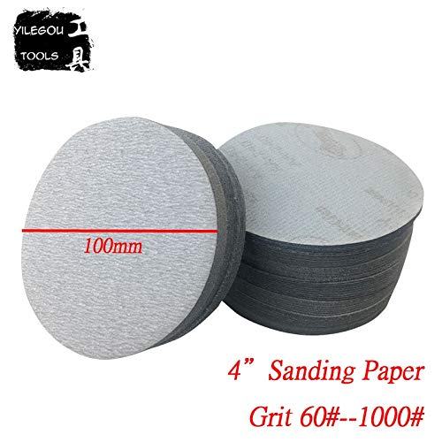 Fantastic Prices! Xucus 100 Pieces 4 Abrasive Paper. 100mm Round White Sanding Paper. 4 Inches Whit...