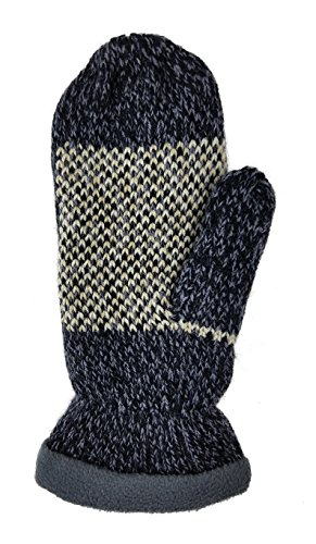 Bruceriver Women Snowflake Knit Mittens with Warm Thinsulate Fleece Lining